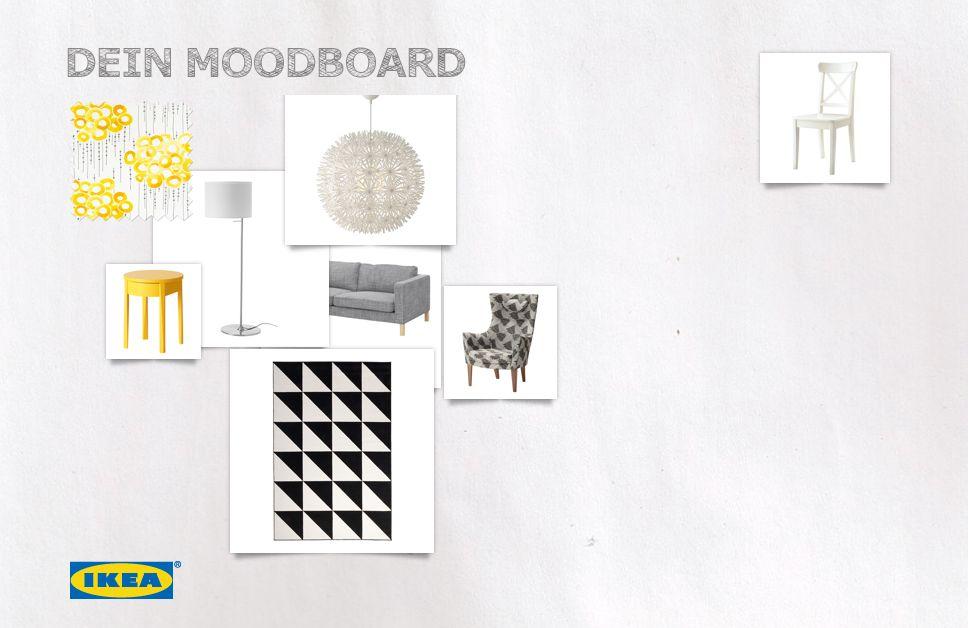 Hast du schon mal ein Moodboard gebastelt? Das ist gar nicht schwer und macht richtig Spaß. So kannst du schauen, welche Designs zusammenpassen, neue Inspiration für dein Zuhause sammeln und deine Ideen mit deinen Freunden teilen. Probiers gleich mal aus!