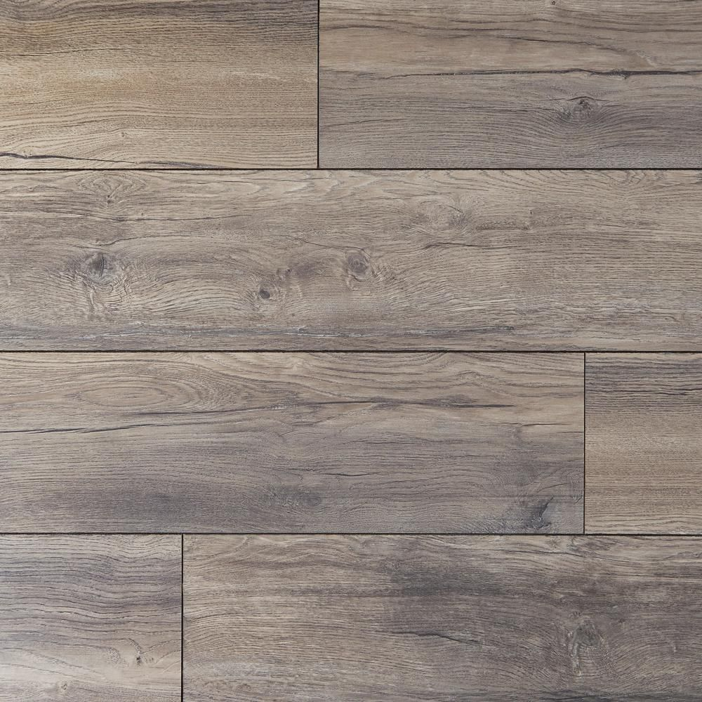 Home Decorators Collection Eir Waveford Gray Oak 12 Mm Thick X 7 1 2 In Wide X 50 2 3 In Length Laminate Fl In 2020 Laminate Flooring Wood Floors Wide Plank Grey Oak