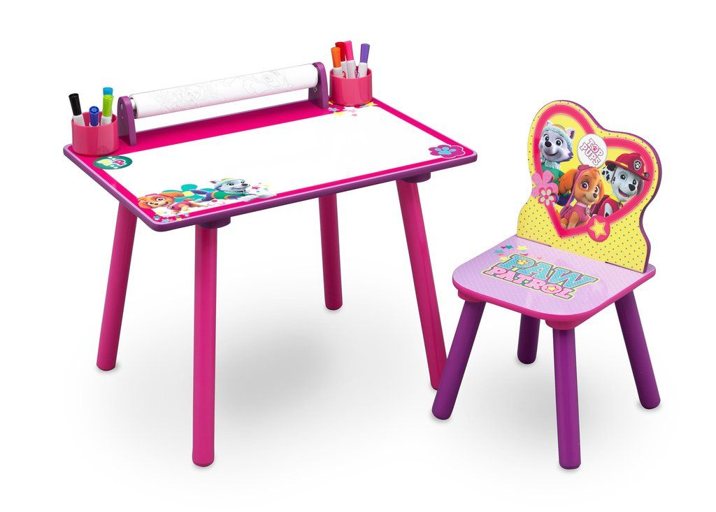 Paw Patrol Skye Everest Art Desk With Paper Roll In