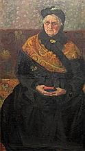 UNBEKANNTER KÜNSTLER/MAYER-SAHL (Deutscher Maler 1. Hälfte 20. Jh.): Porträt einer älteren Dame in Tracht, 20. Jh.,