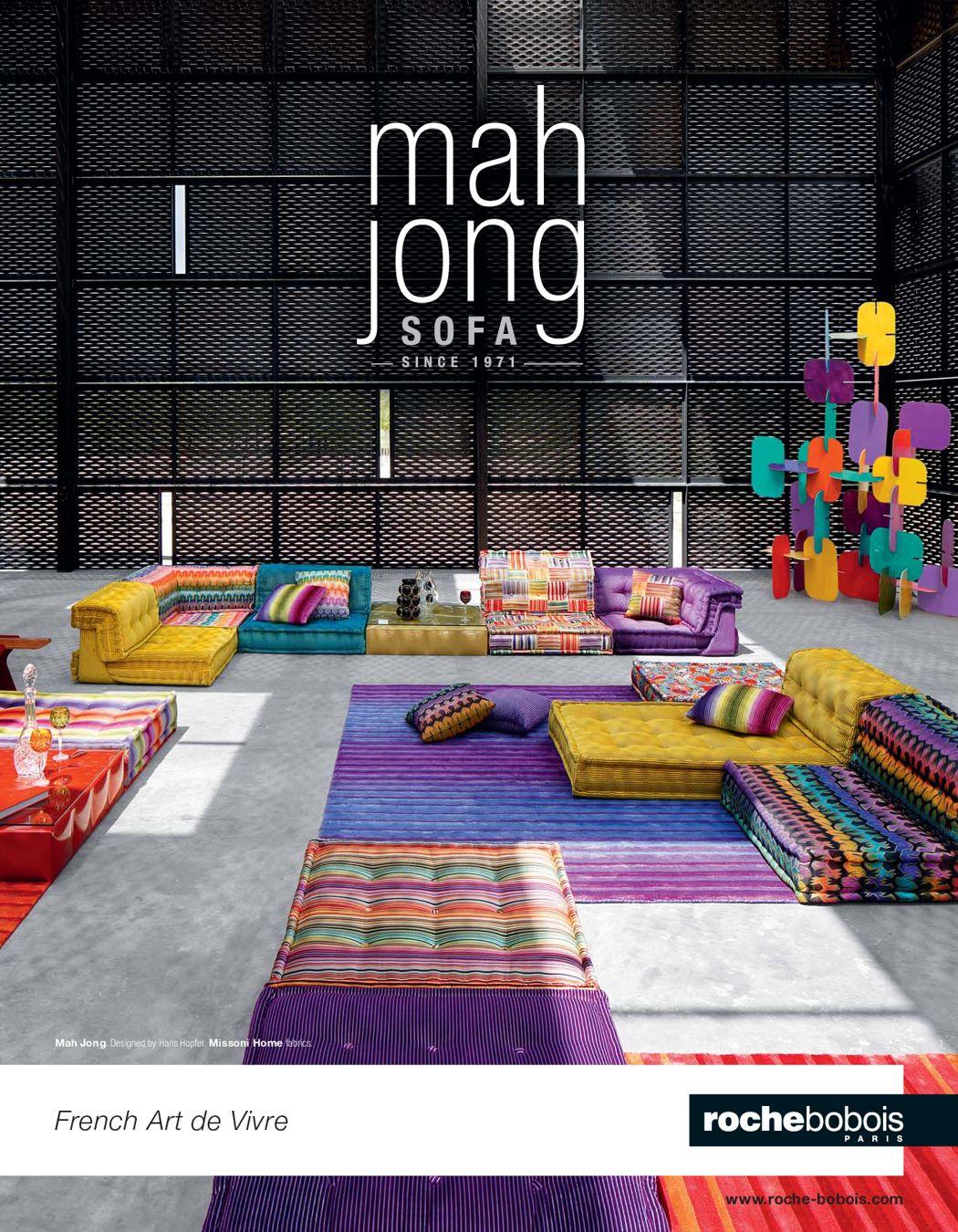 Roche bobois brochure mah jong 2016 en huis mah jong sofa living room sofa home decor - Muebles martin catalogo ...