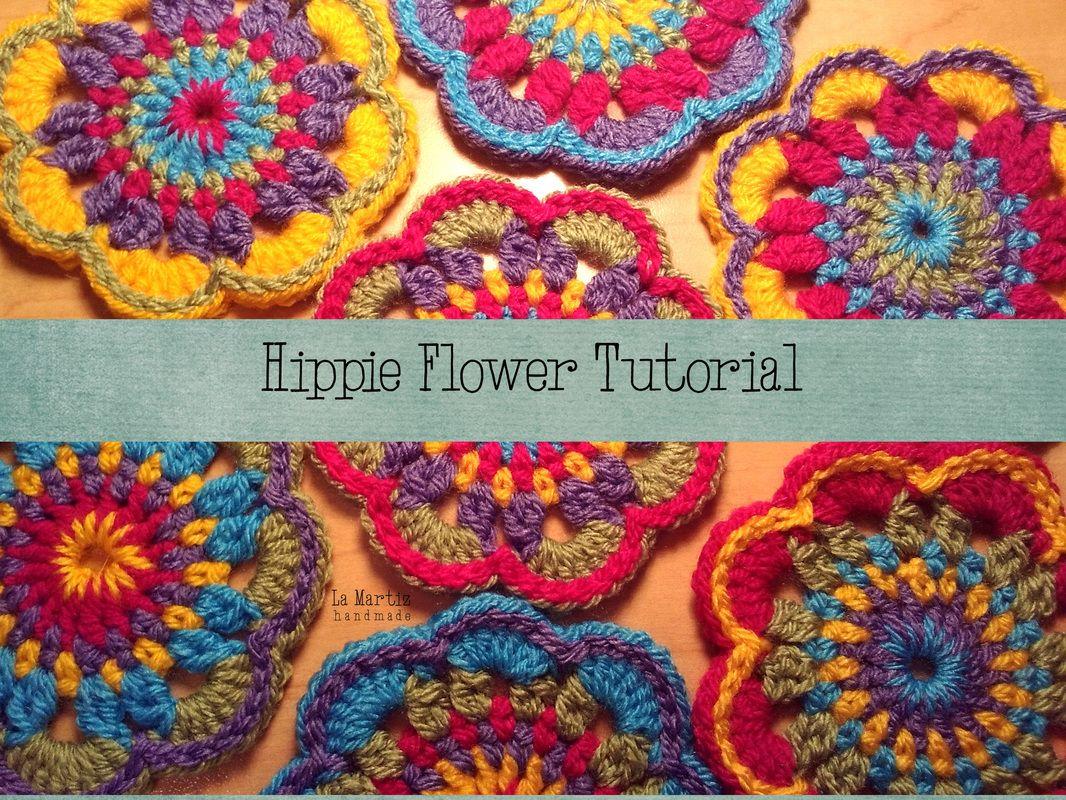 Hippie flower free phototutorial | Crotchet | Pinterest | Hippie ...