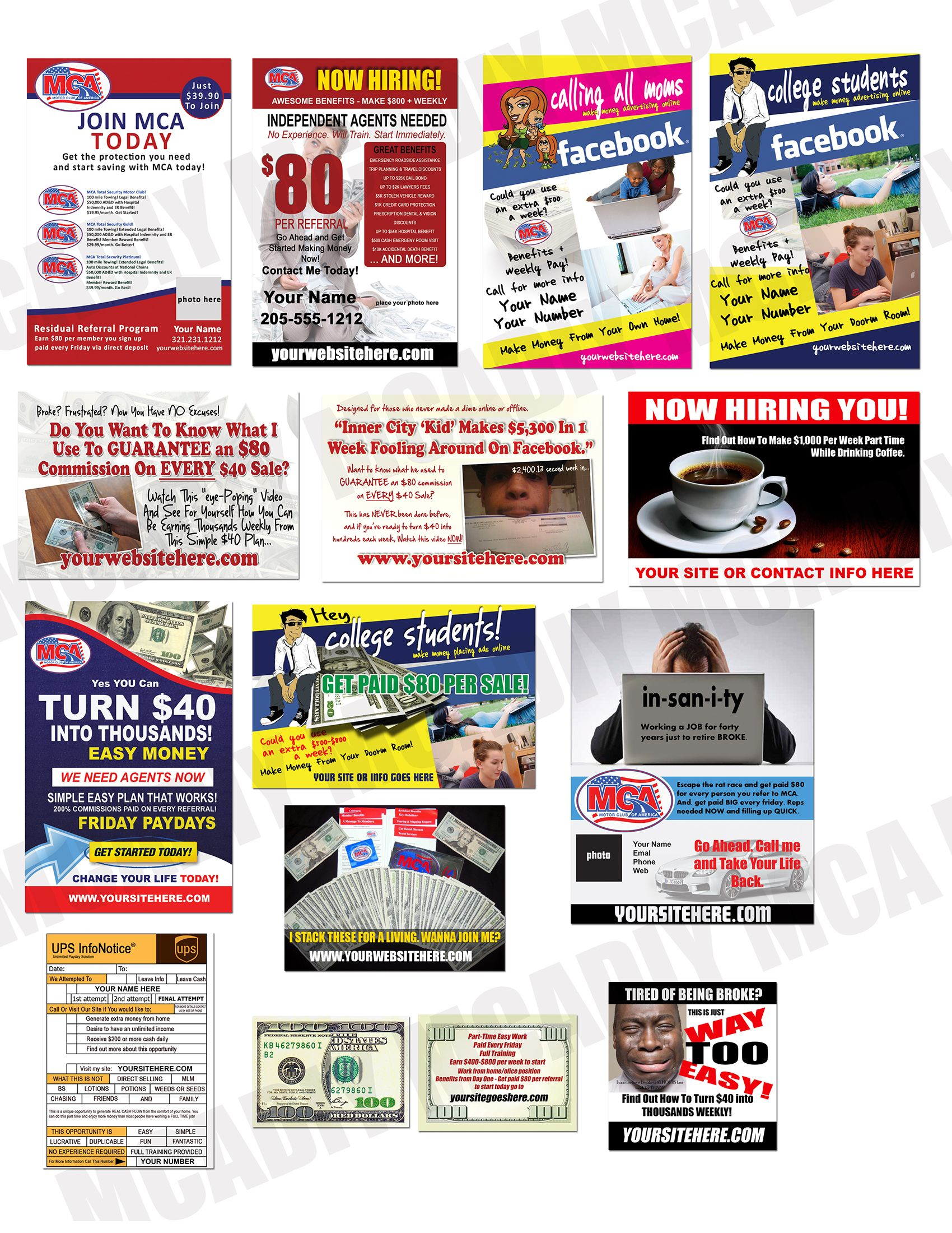 mcadiy com offline marketing tools and materials such as dozens get your mca flyers printed today grow your mca business print your flyers