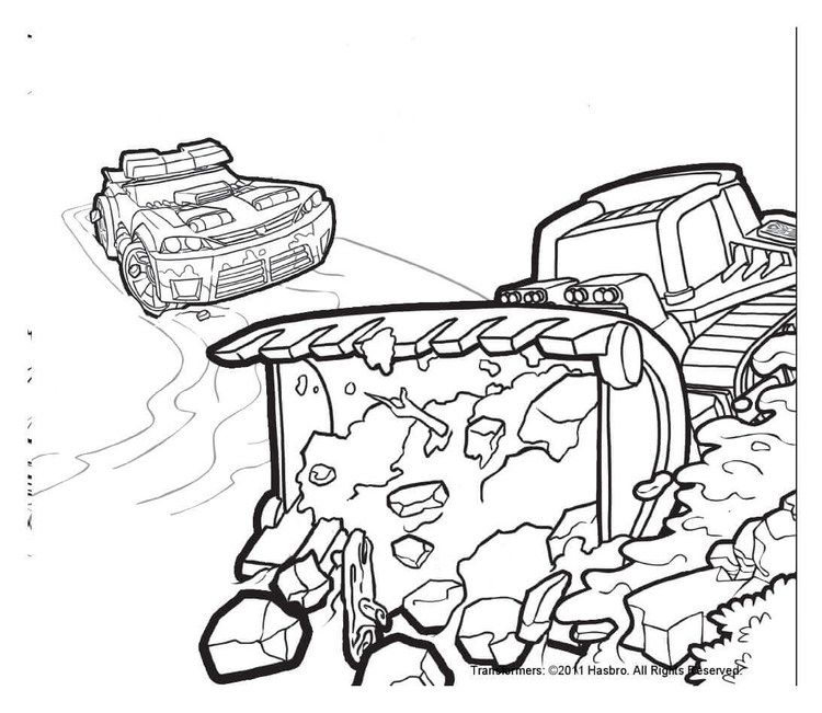 Boulder And Chase Transformers Rescue Bots Coloring Pages