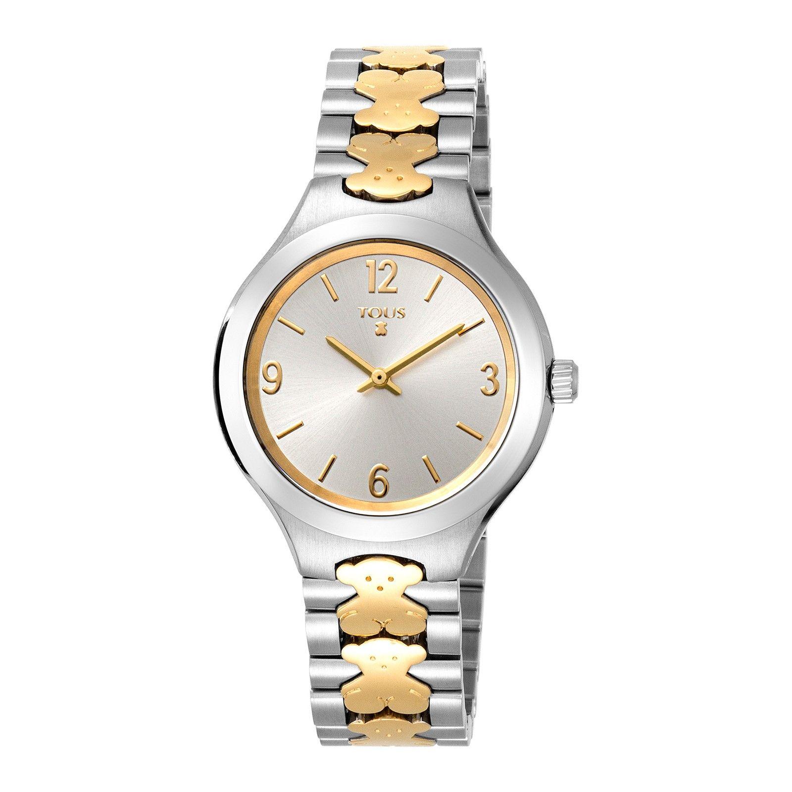 Reloj New Praga plateado y dorado de acero inoxidable - Tous