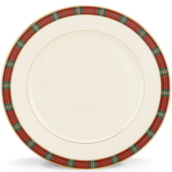 Winter Greetings Plaid 5-piece Place Setting