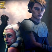 Star Wars, The Clone Wars. Anakin and Ahsoka Tano