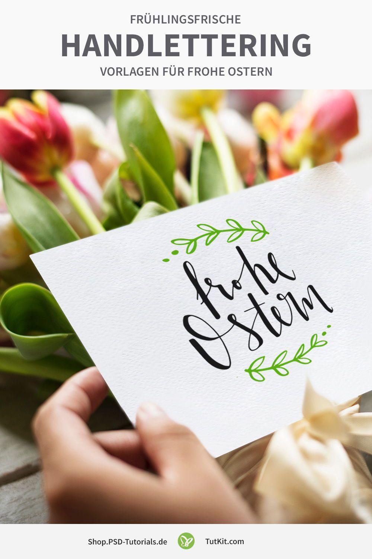 Frühlingsfrische Handlettering Vorlagen für frohe Ostern ...