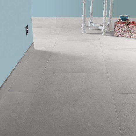 Carrelage Sol Et Mur Blanc Mineral Effet Béton Live Idée Sol - Carrelage effet beton