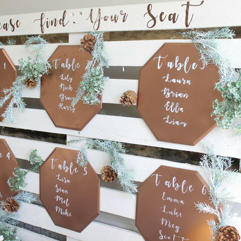 DIY Wood Palette Wedding Seating Chart | Seating plan ...