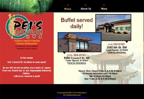 Pei S Mandarin In The Eastern Iowa Area On The A List Cedar Rapids Rapids Mandarins