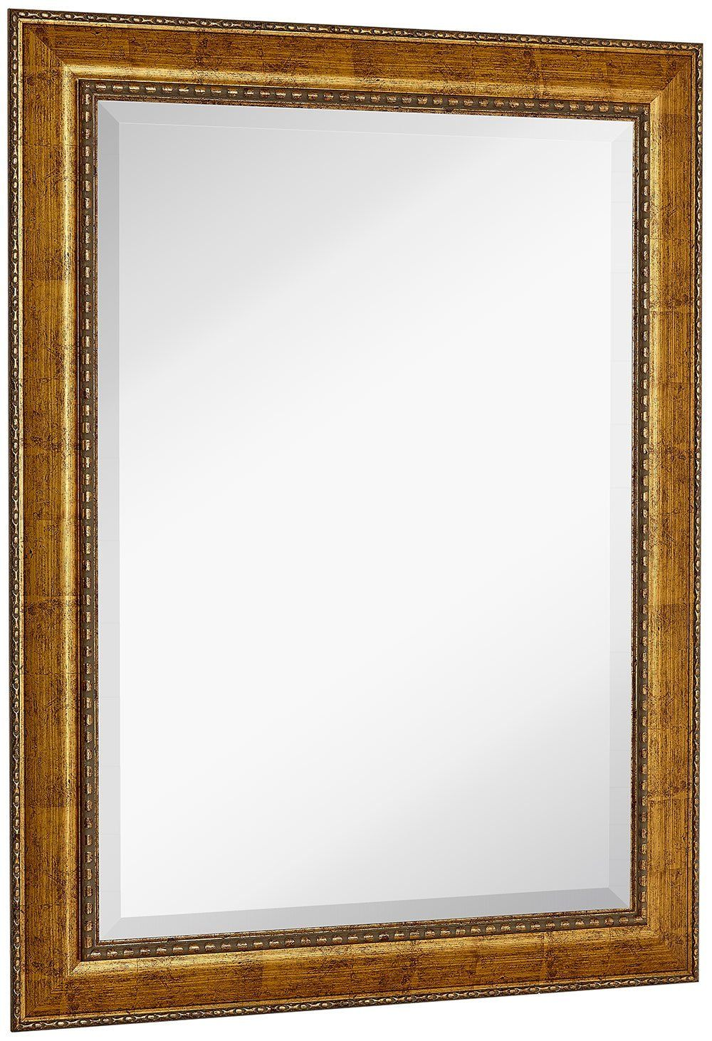 "Amazon.com: NEW Large Embellished Transitional Rectangle Wall Mirror | Luxury Designer Accented Frame | Solid Beveled Glass| Made In USA | Vanity, Bedroom, or Bathroom | Hangs Horizontal or Vertical 30"" x 40"": Home & Kitchen"