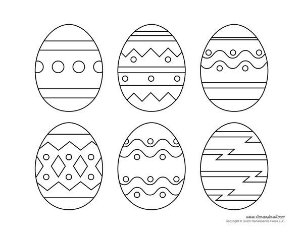 Easter Egg Template Printable Coloring Easter Eggs Easter Egg Coloring Pages Easter Printables Free