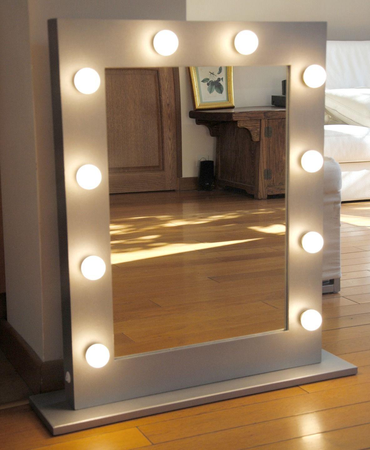 miroir de maquillage lumineux blanc clairage int gr professionnel luminaires par mycraftshop. Black Bedroom Furniture Sets. Home Design Ideas