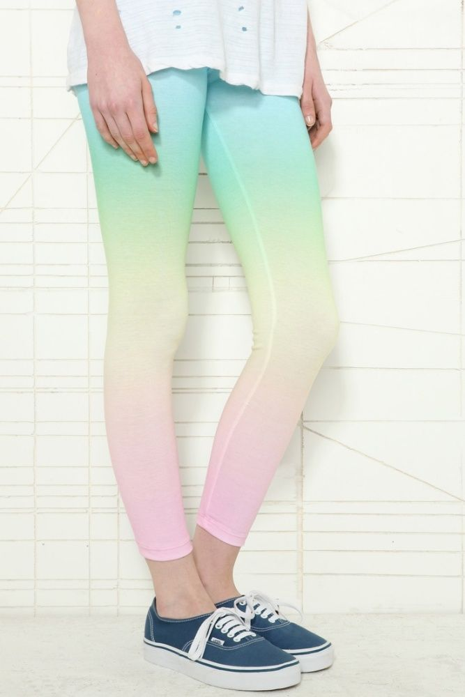 ombre gradient rainbow leggings