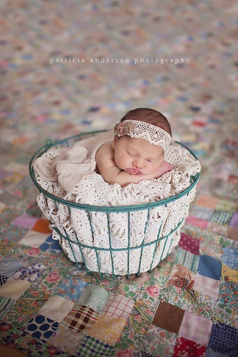 Newborn vintage inspired headwrap tie back head scarf headband photography prop