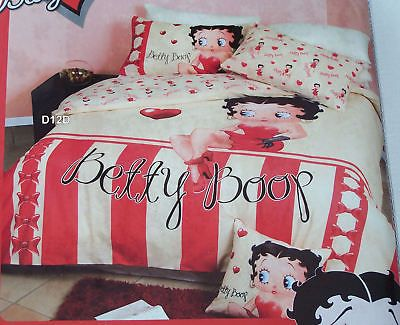 Betty Boop Candy Stripe Queen Bed Quilt Cover Set New Bed Quilt Cover Queen Bed Quilts Quilt Cover Sets