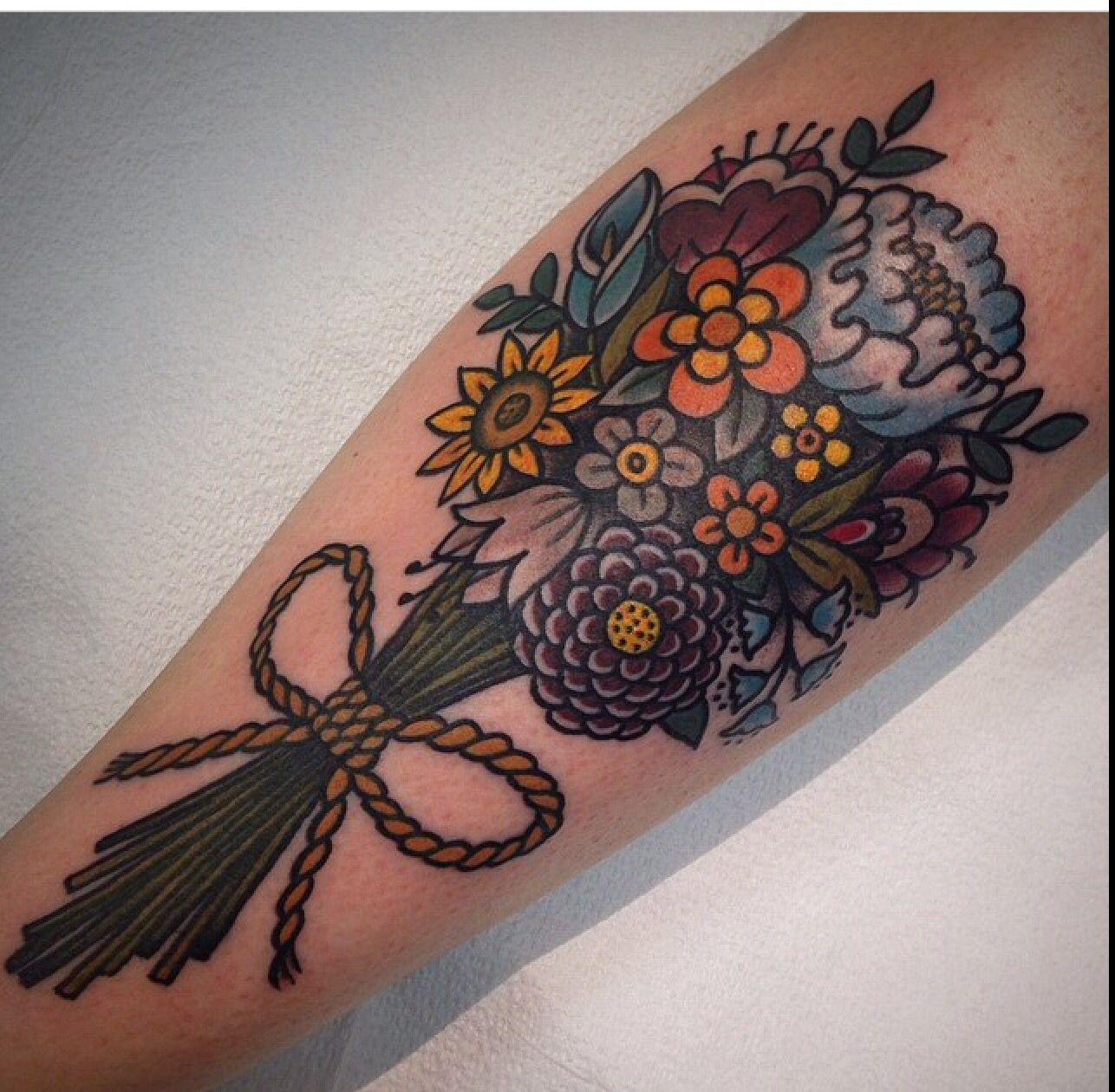 Traditional flower tattoo. Myra Oh Florida … Traditional