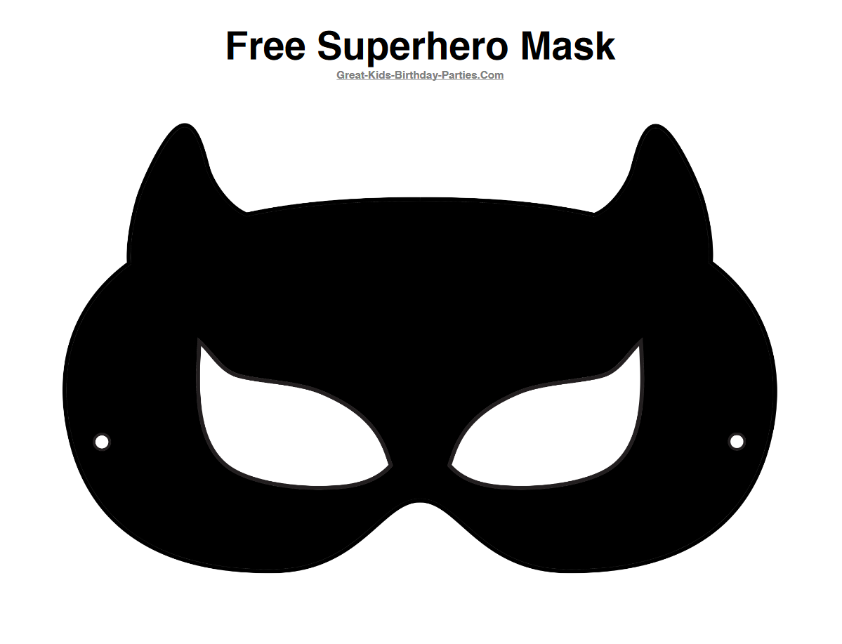 Free Catwoman Half Mask Printable Black | PRINTABLE MASKS FOR KIDS ...