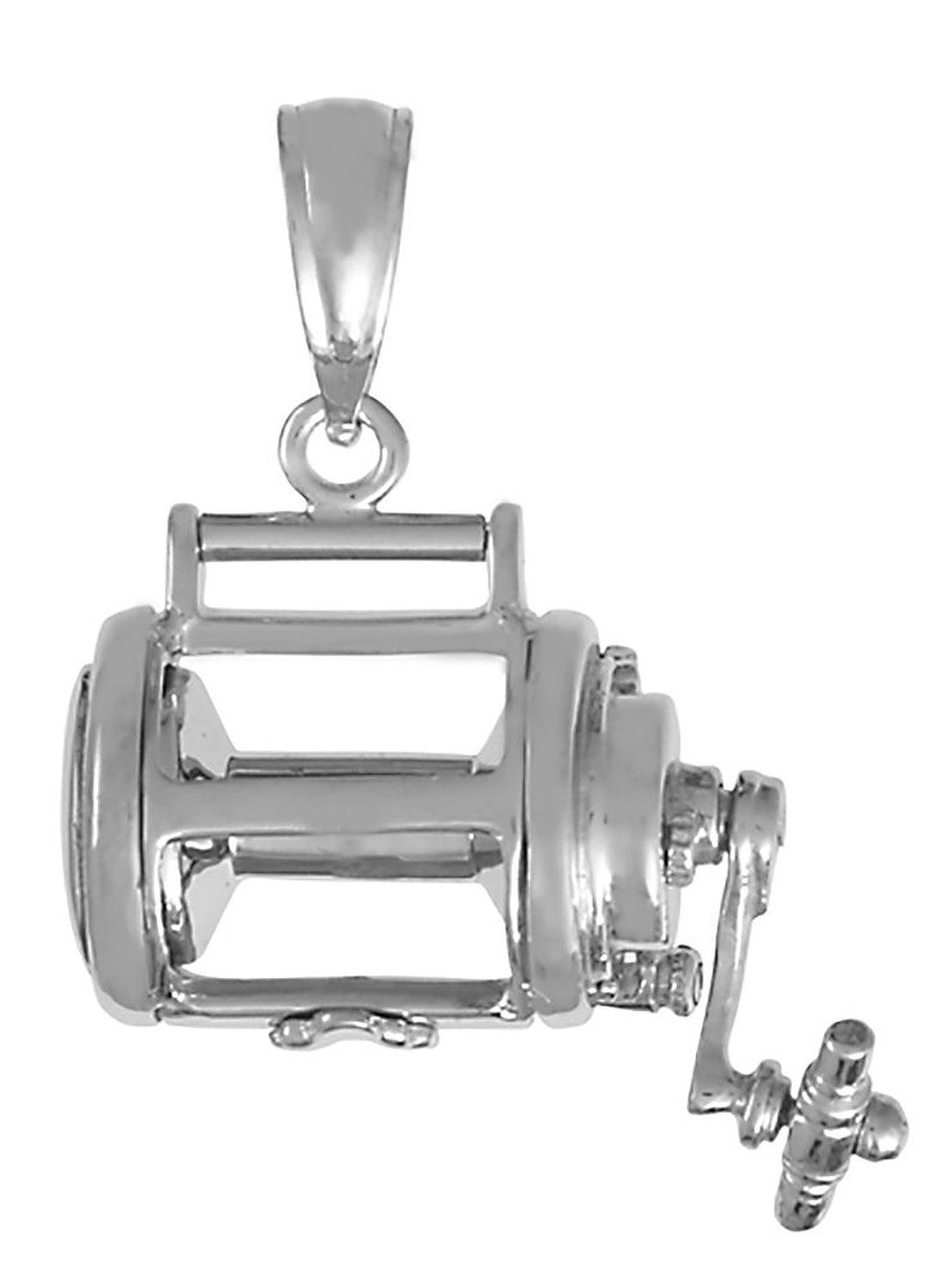 STERLING SILVER ONE SIDED GRENADE CHARM//PENDANT