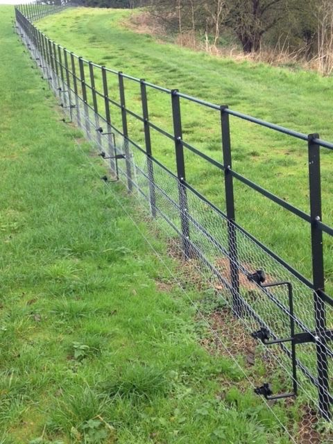 estate fencing park fencing with rabbit mesh and electric fence wire