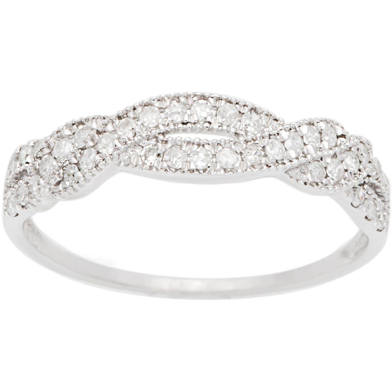Women's diamond wedding bands white gold -  Li Bypass Pave Diamond Wedding Band Li Li 10 Karat White Gold Jewelry Li Li A Href Http Www Overstock Com Cgi Bin D2 Cgi