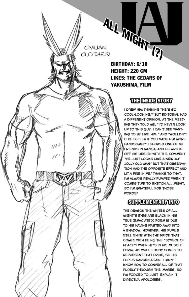All Might in Civilian Clothes | My Hero Academia Ext. 1 ...