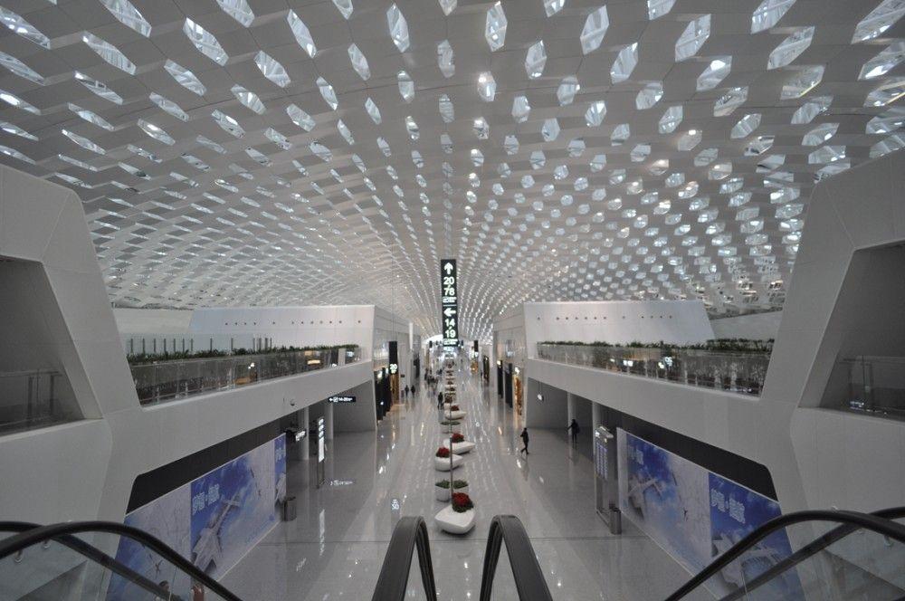 Shenzhen Bao'an International Airport / Studio Fuksas | International  airport, Airport design, Shenzhen