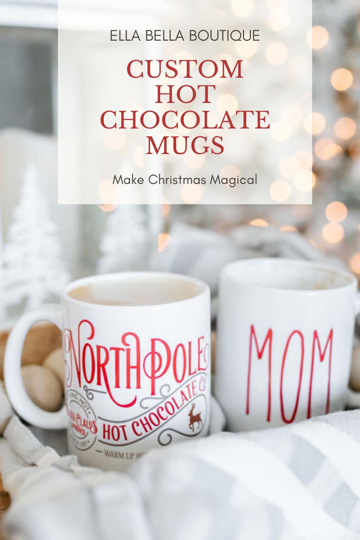 Personalized Hot Chocolate Mug Hot Chocolate Mug Chocolate Mugs Hot Chocolate Gifts