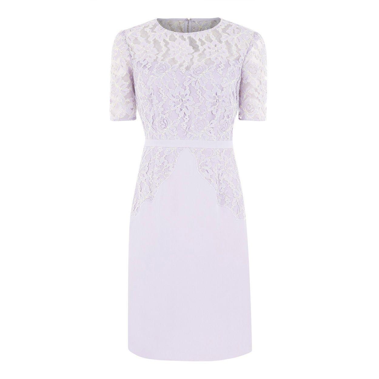 Kaliko cotton lace dress purple