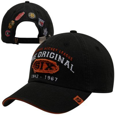 half off f242b b9941 Old Time Hockey Original Six Paradigm Adjustable Hat - Charcoal