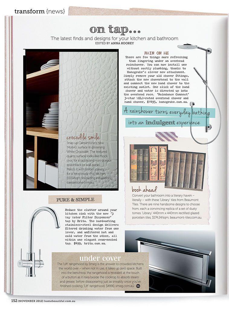 Home Beautiful - Editorials - Crocodile Snow | Caesarstone Editorials