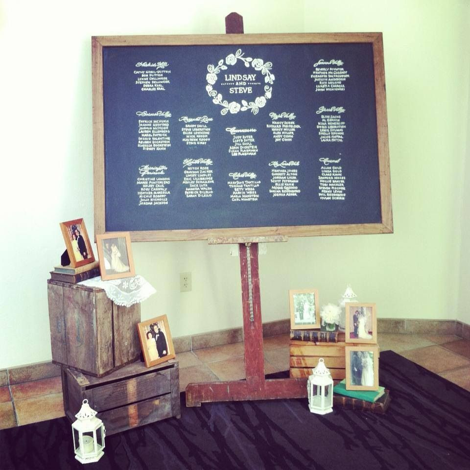 Chalkboard bridal party ~ credits to my friends at Belovely Inc