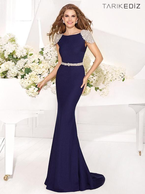 Royal Blue Luxury Tarik Ediz 2016 Prom Dresses Party Evening Plus ...