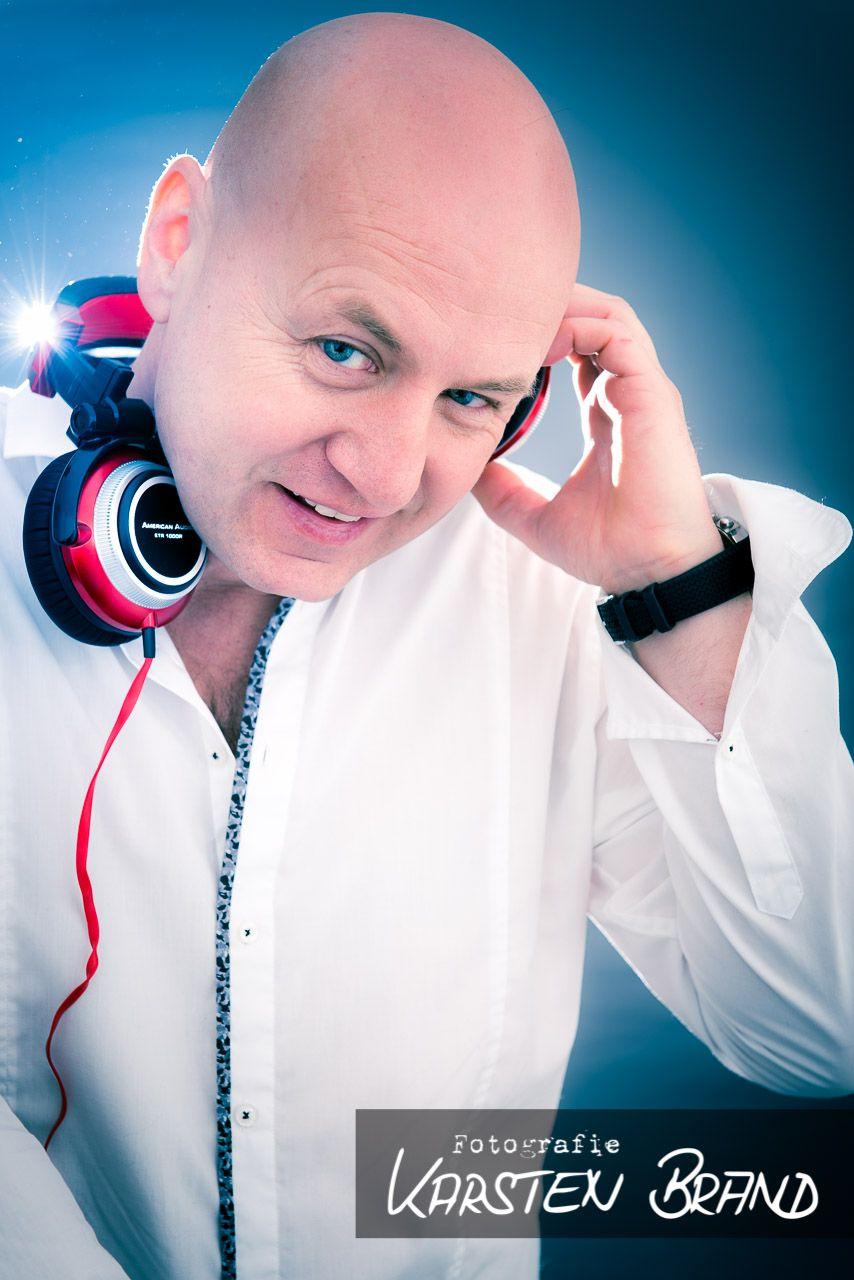DJ Photography - Portrait of German Party DJ Schorsch. Shooting took 60 minutes (18 different photos).
