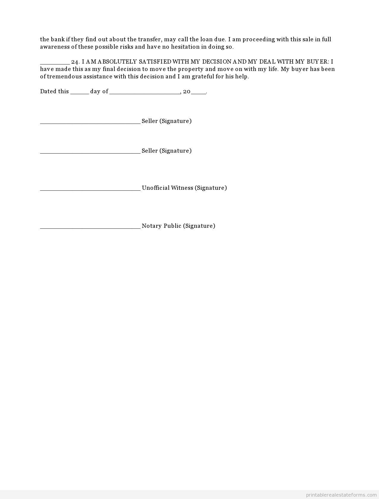 Free Printable Home Disclosure Form Template Word Doc