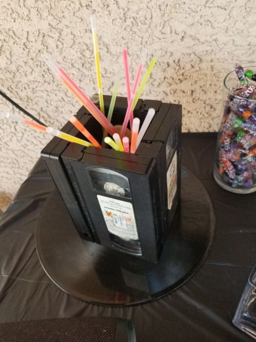 80s birthday party centerpiece - sherbet straws #30thbirthday #30th #birthday #centerpieces #50thbirthdaypartydecorations