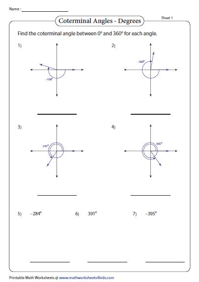 Reference Angle Worksheet   worksheet