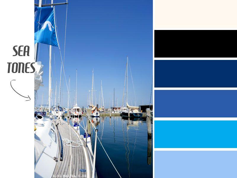 Maritime Farben sea tones maritime farben das meer coloure schemes