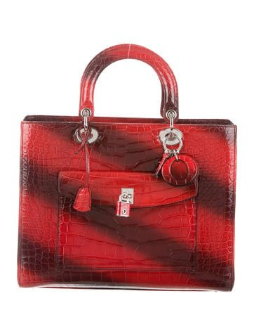 Christian Dior Crocodile Lady Dior Front-Pocket Bag  HavingAMoment   TheLadyBag 370af4d46e861
