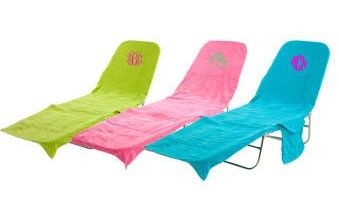 Exceptionnel Monogrammed Lounge Chair Cover  I Would Like To Try And Make One Of These.  Seems Pretty Easy If U Start Out With A Beach Towel.