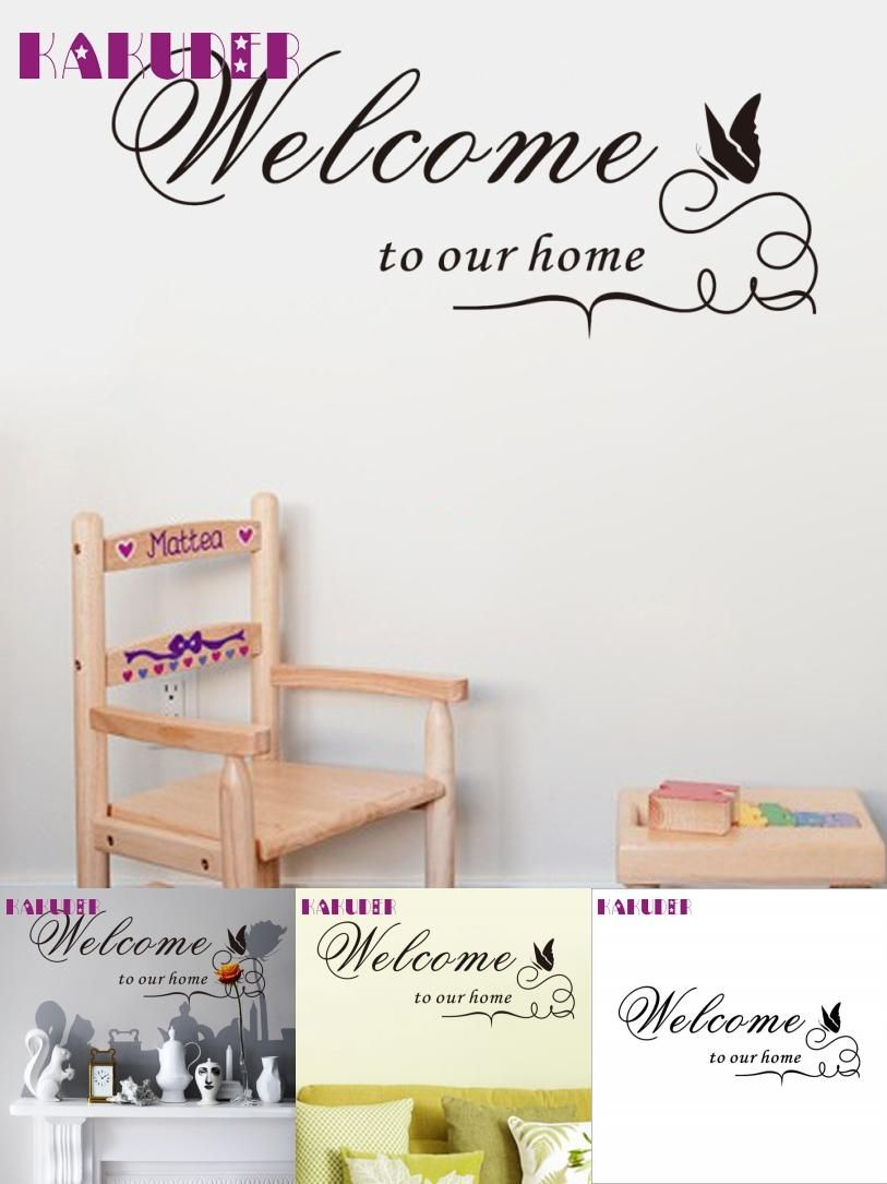 Visit to buy wall sticker welcome to our home decor vinyl mural visit to buy wall sticker welcome to our home decor vinyl mural muraux wall amipublicfo Choice Image