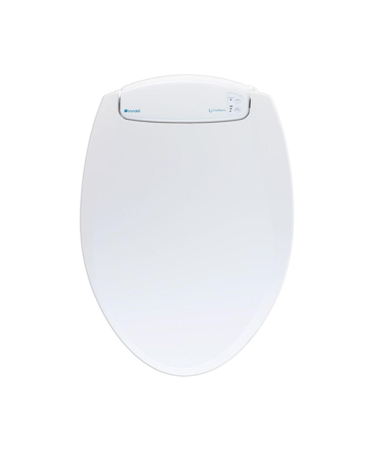 Brondell Lumawarm Heated Nightlight Toilet Seat Elongated White