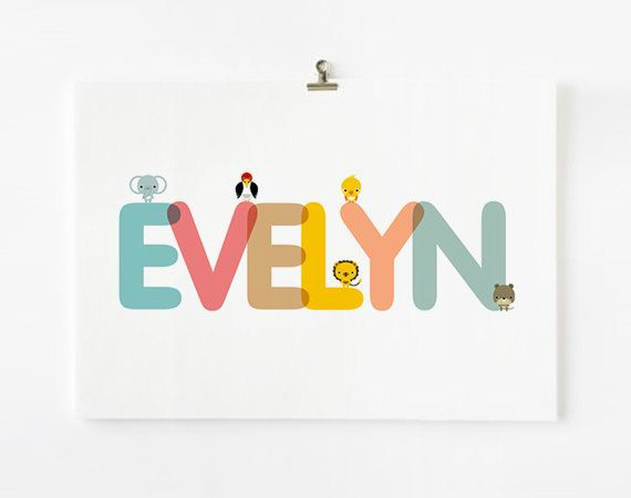 personalized custom childrens alphabet name large art prints nursery baby wall art kid wall