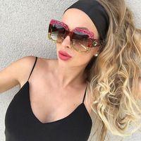 54d2d8e9bd5 CCSPACE Hot Sale Karleusa Ladies Sunglasses Oversized For Women Brand  Designer G Glasses Fashion Eyewear Female Shades 45163