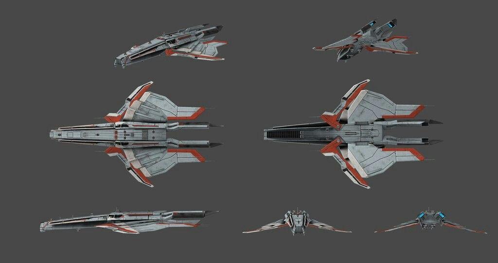 Mass Effect Turian Cruiser Prototype Spaceship And Vehicle