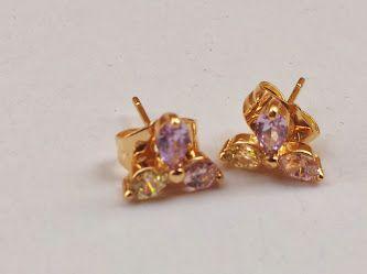 حلق الورده صغير ب 20 ريال Stud Earrings Earrings Jewelry