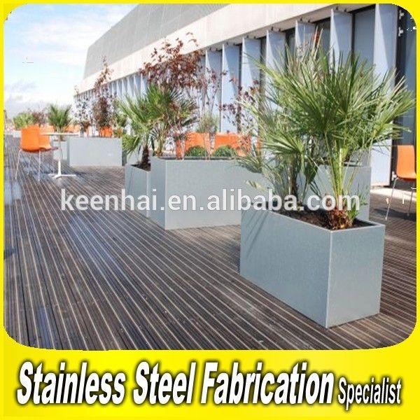 Stainless Steel Large Planter Pots Rectangular Planter Box Find