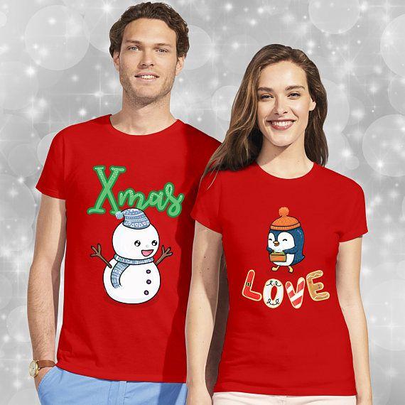 141765b4a7 Christmas t shirts / pärchen t-shirts / couple shirts / funny ...