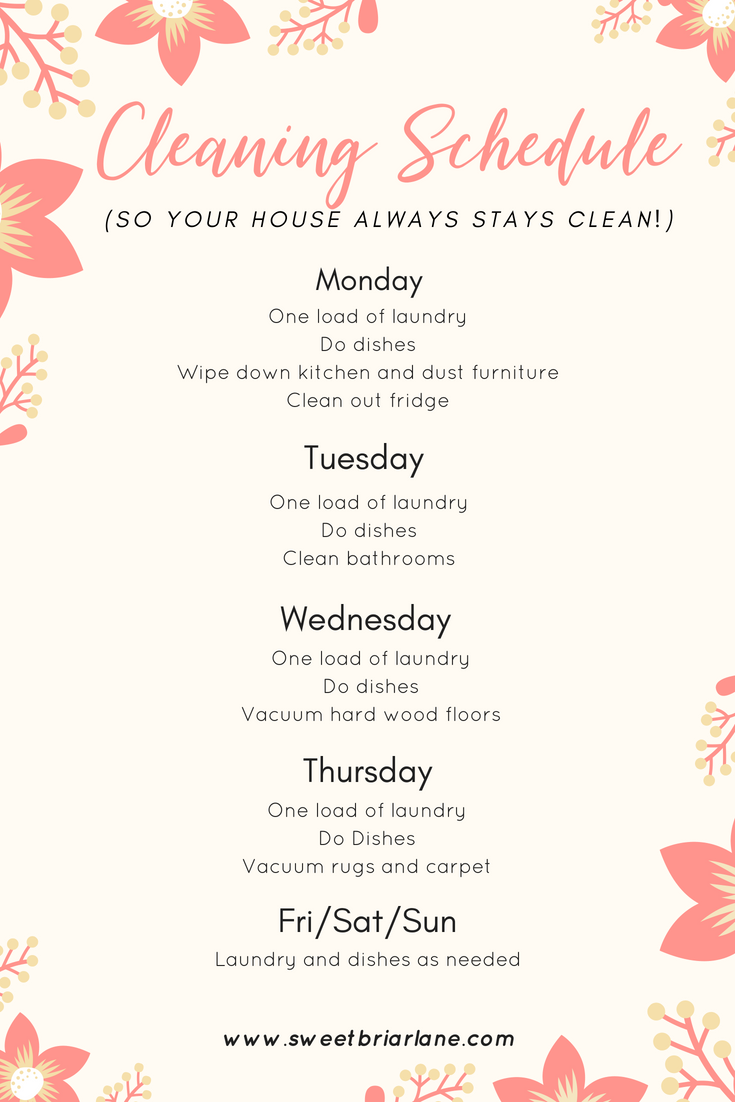 Stay At Home Mom Jobs Ideas: Simple Cleaning Schedule. Whether You Have A Full-time Job